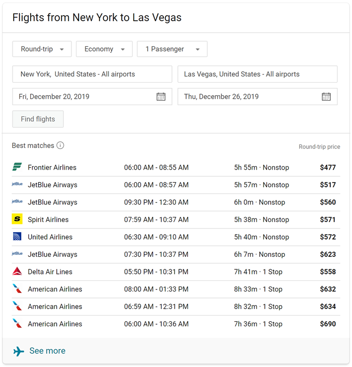 Bing flights roundup december 2019