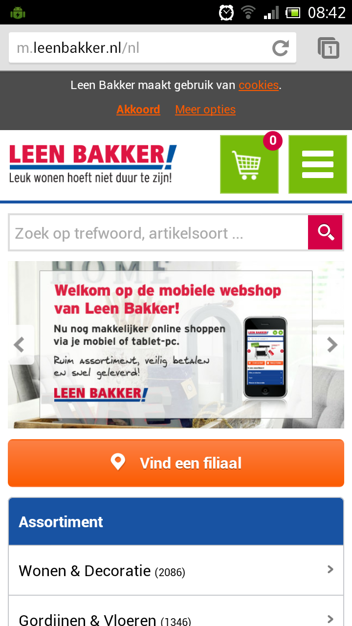 Mobiele website Leenbakker