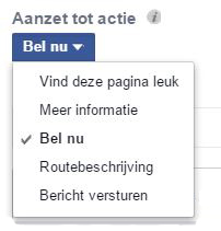 nieuwe call to actions facebook