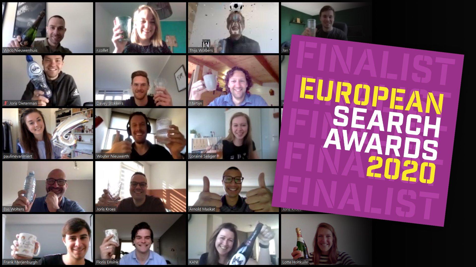 Adwise vier keer genomineerd voor de European Search Awards