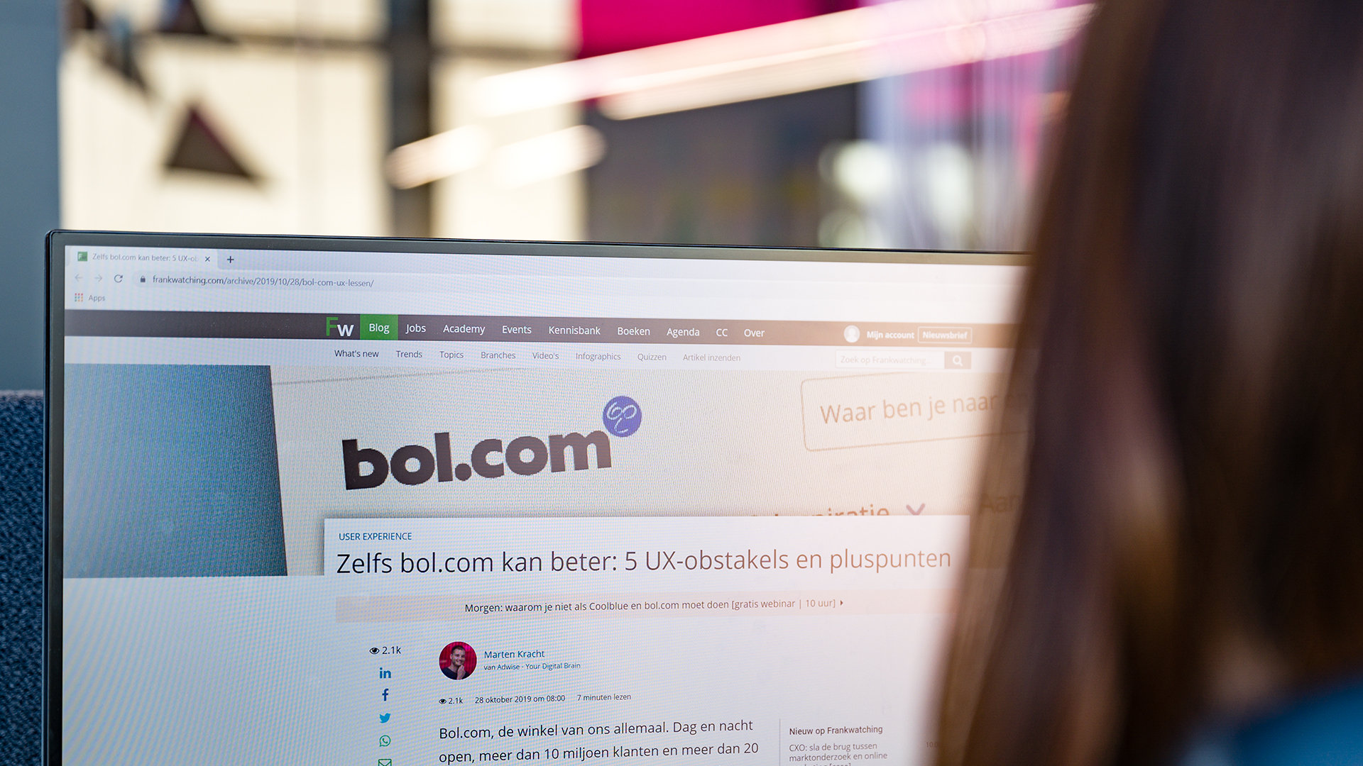 Zelfs bol.com kan beter: 5 UX-obstakels en pluspunten op Frankwatching